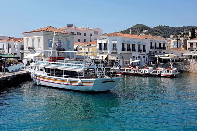 Spetses Island - Dapia harbour is the main arrival point of Spetses