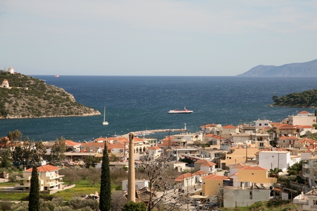 Panaramic view of Limani harbour from Pronos hill