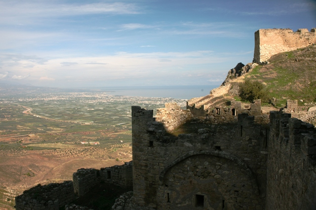 Panoramic view from the Acrocorinth second gate