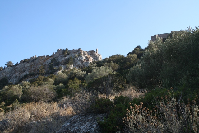 Rock climbing - Approach to the towering Crusader castle