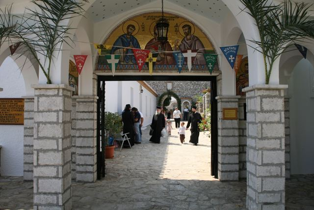 Mon. of Anargyroi - Main entrance to the monastery and church