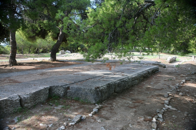 5th Century BC foundation stones of the temple of Athina