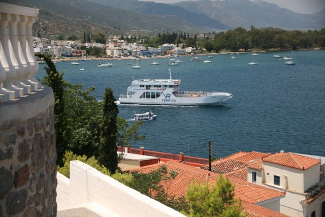 The Galatas ferry-boat heading towards Poros