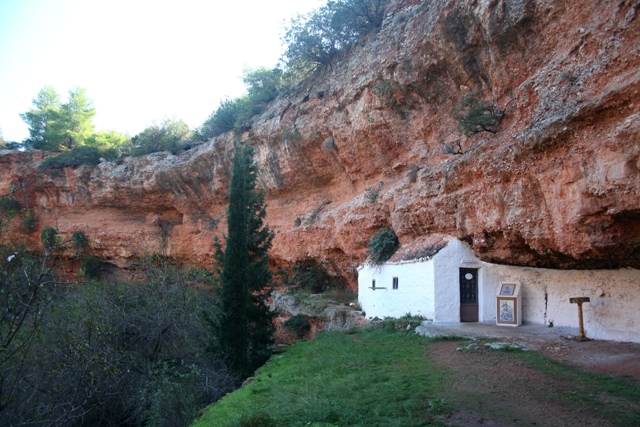The small Byzantine church of Aghios Georgios (St George)