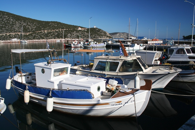 Fishing boats in Limani harbour