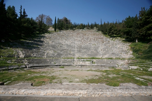 Argos: Only half of the theatre stone seats remain