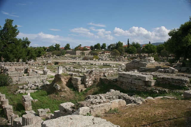 Panoramic view of the ancient city of Corinth