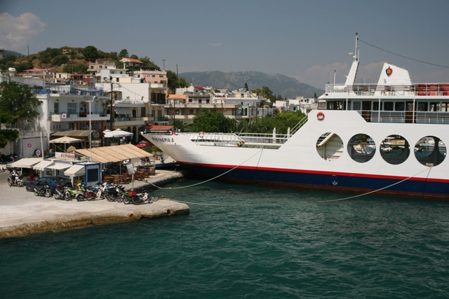 Shuttle ferry-boats depart for Poros every 30 minutes