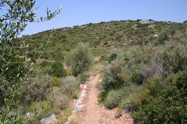 The Bronze age Mycenaean route leading East to Epidavros