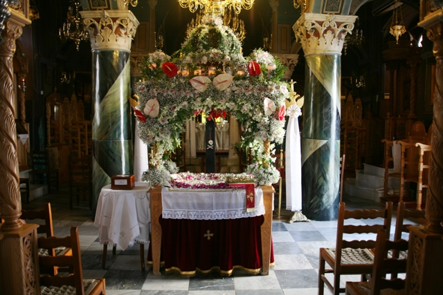 April 6 - Good (Great) Friday - The Epitaphios in church