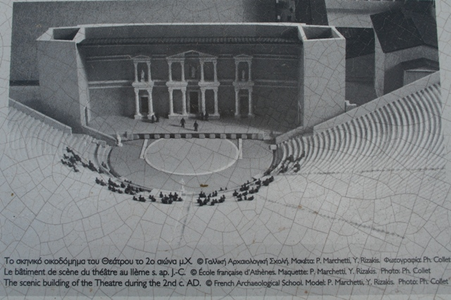 Argos: Artists drawing of the theatre during the Roman period
