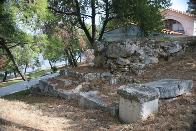 Archaeological excavation site alongside Aghios Nikolaos