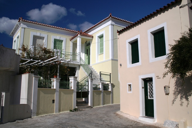 Typical houses in the Old Village backstreets