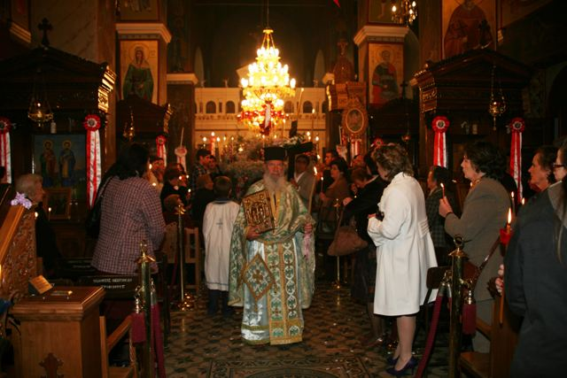 April 14 - Good Friday - The evening procession begins