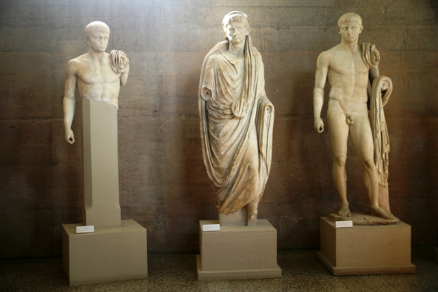 Roman statues in the museum - 1st Century AD
