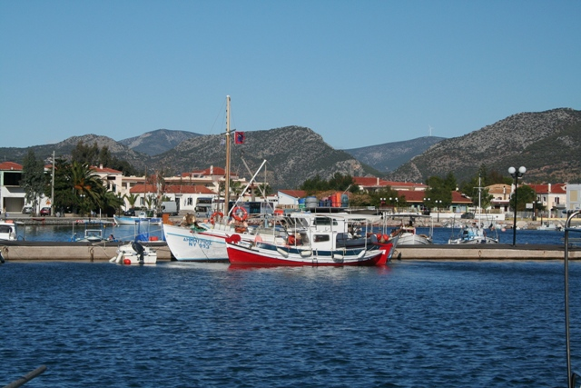 Fishing boats in the inner harbour