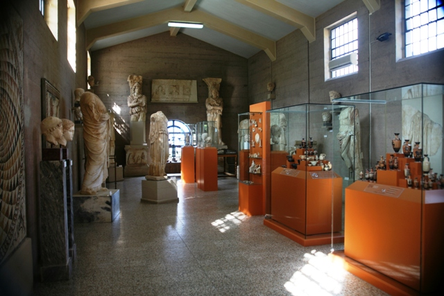 The interior at ancient Corinth museum