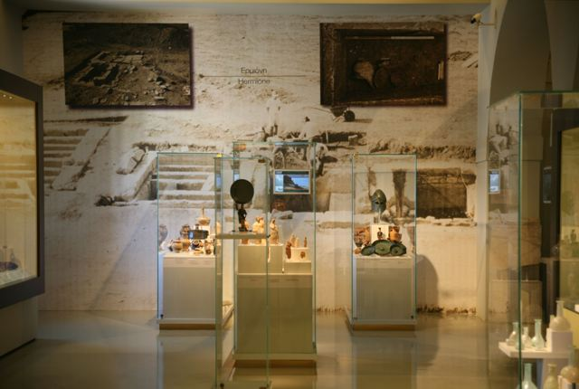 Finds from Ancient Hermione on display in the Nafplio museum