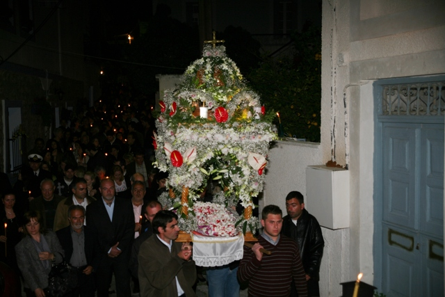April 6 - Good Friday - Epitaphios carried by the local men