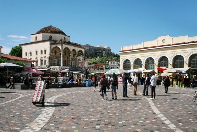 Athens - Monastiraki Square and Metro