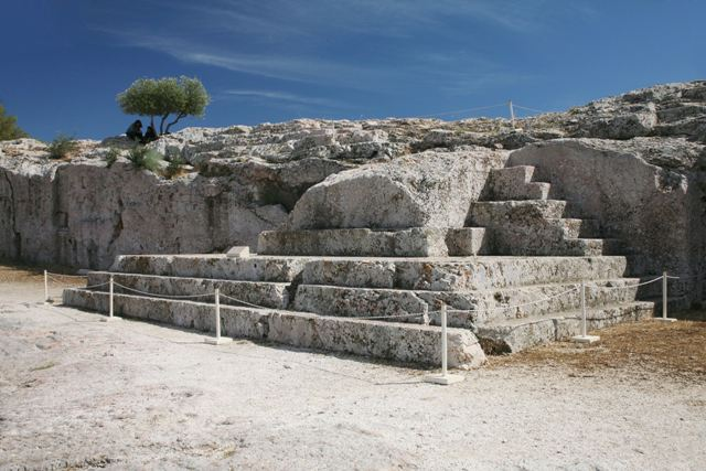 Athens - Pnyx Hill - Orator's steps