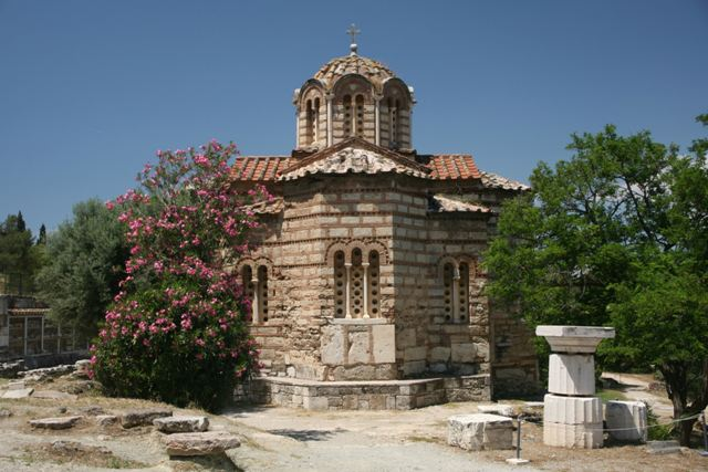 Athens - Agioi Apostoloi Athina Byzantine church