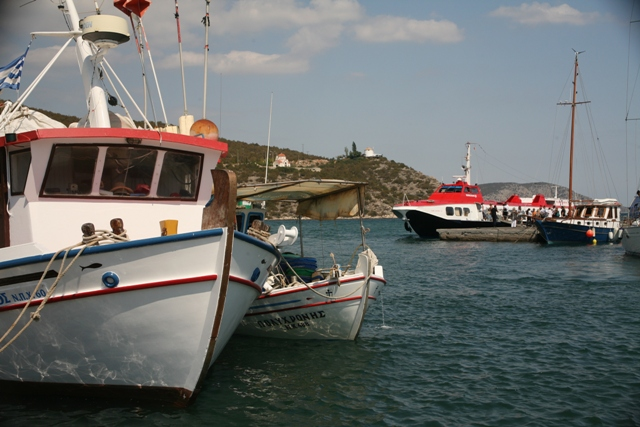 Assorted boats around Limani harbour