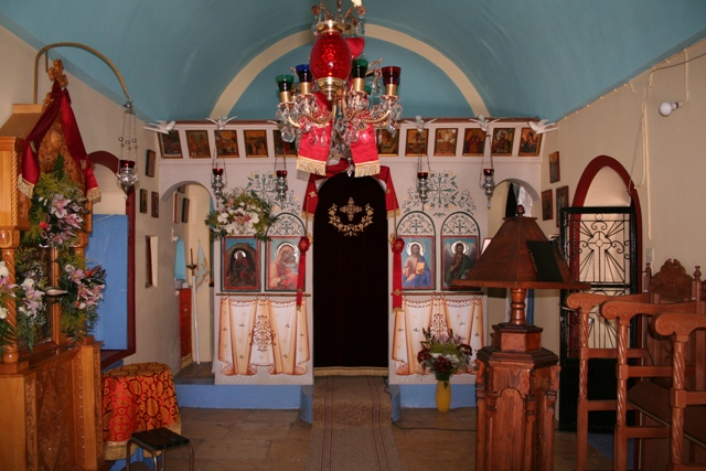 Church of Prophet Elias - Colouful interior - near Kouverta