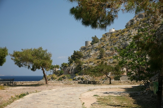 The coastal pathway from Hydra town to Kamini