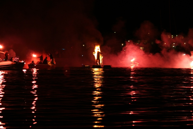April 8 - The burning of Judas - evening of Easter Sunday - The fishermen arrive
