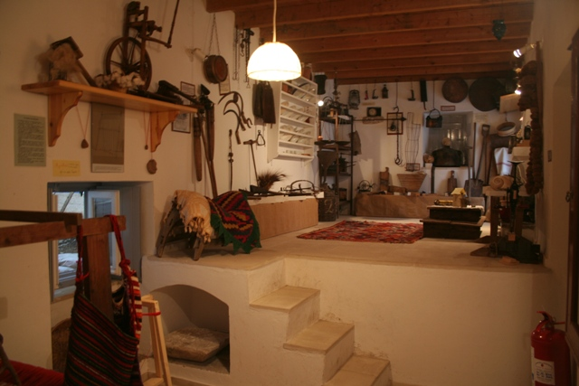 Household and garden items on display in the Ermioni museum