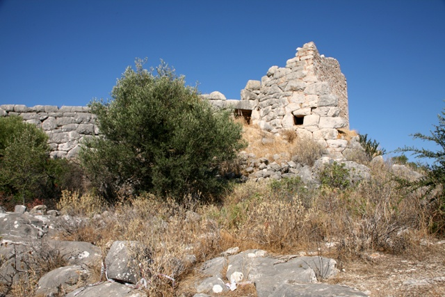 Main top tower of the Kazarma acropolis