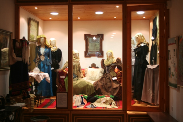 Historic costumes on display in the Ermioni museum