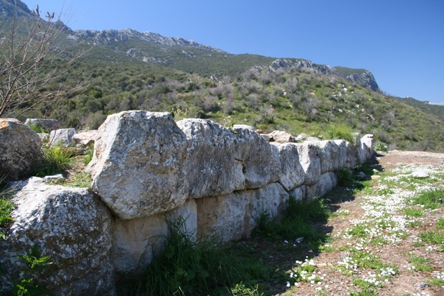 Hellenistic walls within ancient Troezen