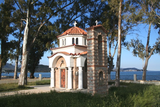 Small coastal chapel on the way to the Monastery of Anargyroi