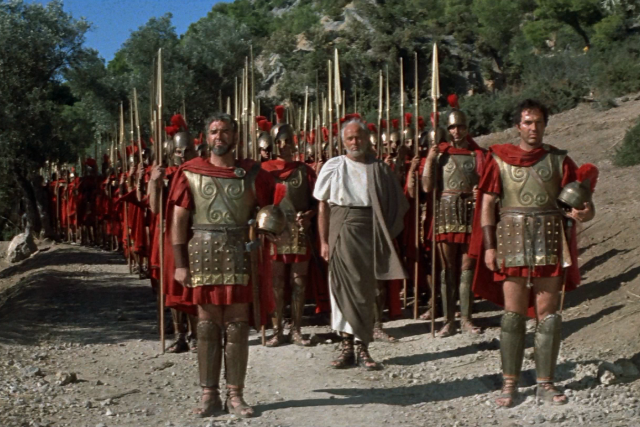 The 300 Spartans (1962) Arrival at Thermopylae