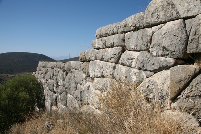 Mycenaean walls below the main entrance gate