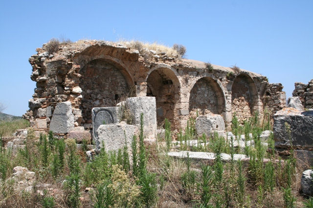 The Medieval church was built on the ruins of a Byzantine Basilica