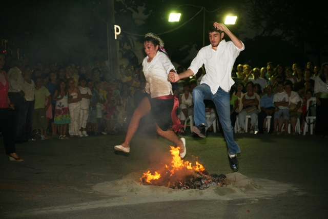 June 23 - 'Klinodas' St.John's festival - Jumping over the flames