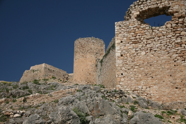 Argos: Castle bastion towers built by various conquerors