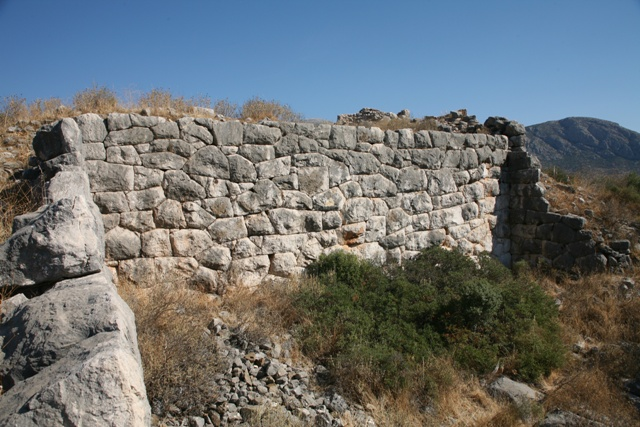 The upper Southern section of the citadel wall