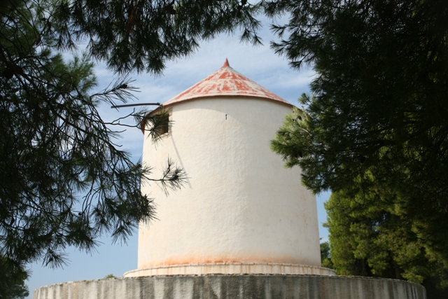 The renovated windmill close to the nobleman's tomb