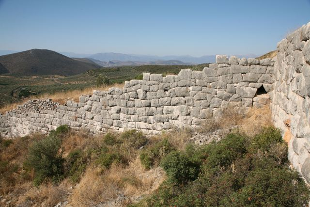 Lower Eastern section of the wall facing Epidavros