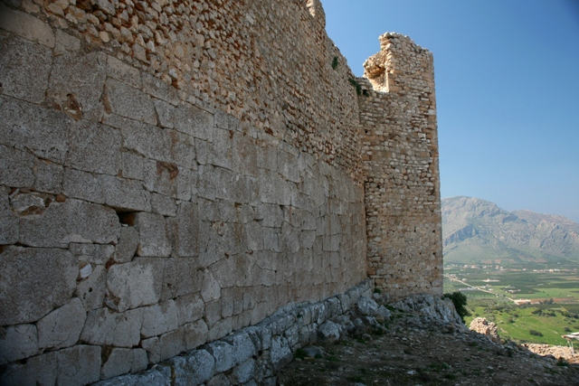 Argos: Different period levels of castle stone fortification
