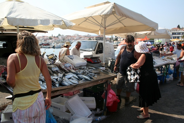 Fresh fish for all tastes at the Thursday market