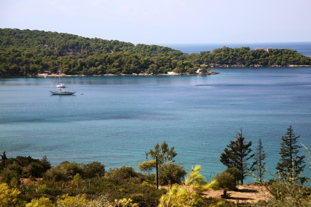 The picturesque bay and beach at Paraskevi