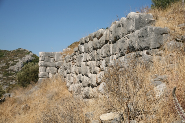 The lower Southern section of the citadel wall