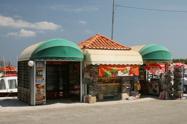 Kiosks sell drinks, snacks and ice-cream