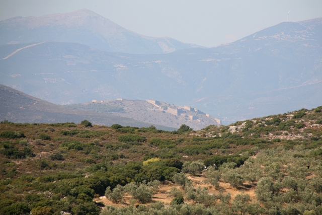 Western view towards the Palamidi fortress at Nafplio