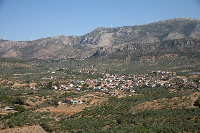 Metochi village from the Kazarma acropolis